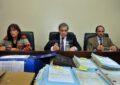 María Ivón Vella, José María Escobar Cello y Luciano Lauría integran el tribunal oral que juzgará a los represores. . Imagen: Eduardo Seval